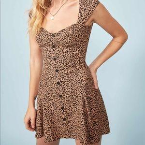 Reformation Cheetah Mini Dress - size 2